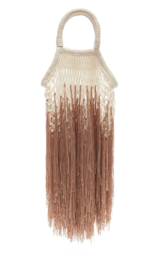 Ombre-Tan Mini Fringe Bag