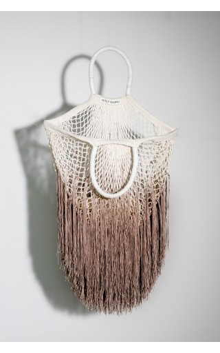 Ombre-Tan Large Fringe Bag