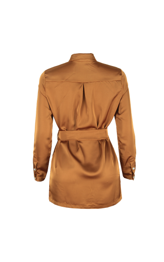 Silk Belted Blouse
