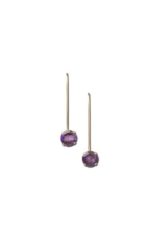 Amethyst Drop Earring Short