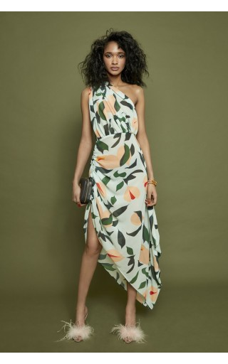 Nutmeg One Shoulder Dress