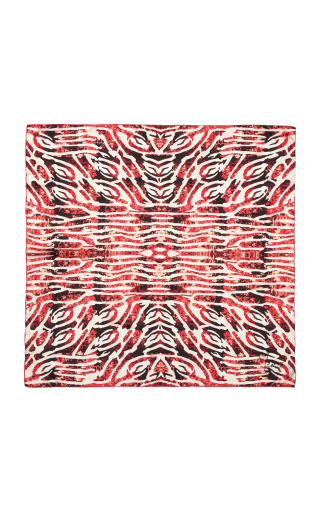 Hand-rolled Silk Scarf Red