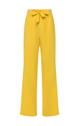 Flared Pants with Belted Waist