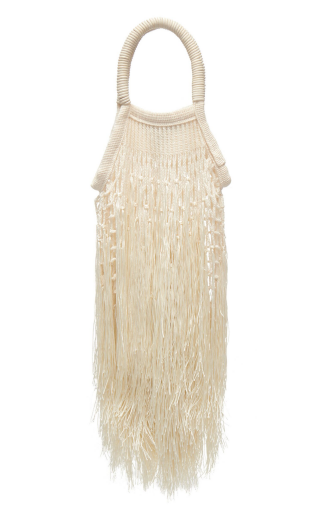 Ecru Mini Fringe Bag
