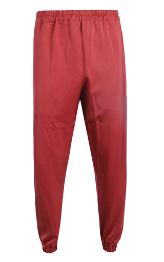 Copper Silk Poly Pants with Elastic Band