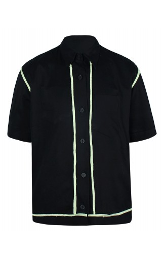 Bias Taped Reversible Shirt (Black)