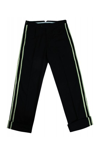 Bias Taped Dad Trousers (Black)