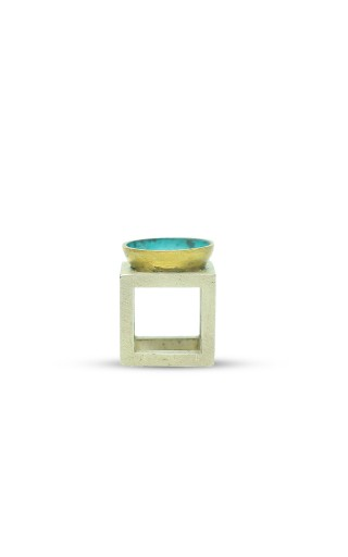 Nested Vessel Cube Pinky Ring