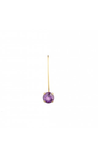 Amethyst Drop Earring Long