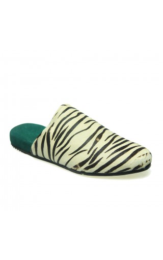 Distressed Zebra mule