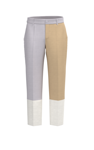 CONTRAST THREE TONE PANT