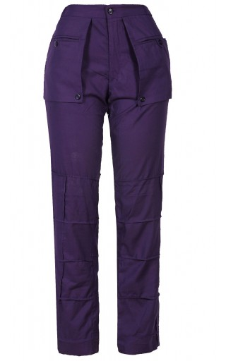 PURPLE PATCHWORK WITH EXTENDED POCKETS PANT