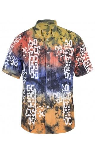 MULTICOLOUR COTTON SHIRT WITH SILKSCREEN PRINT