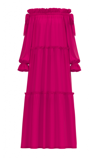 Adaeze Dress - Fuchsia